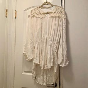 Free People White Tunic Dress, Size Small